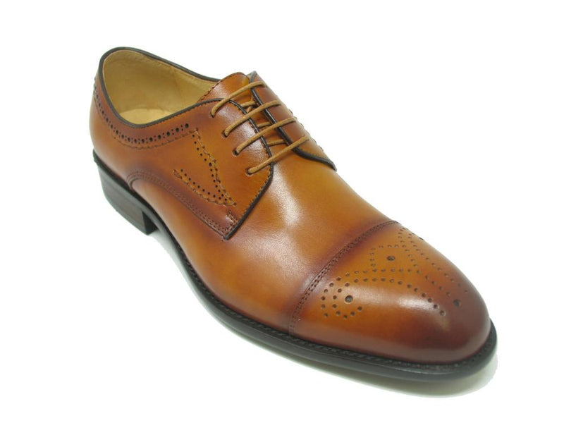 KS711-01 Medallion Cap Toe Leather Lace-up