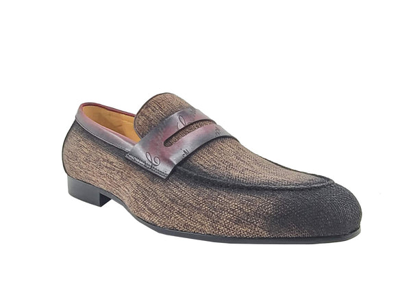 Life Style Penny Loafer Fabric Upper with Signature Leather Trim - KS714-03