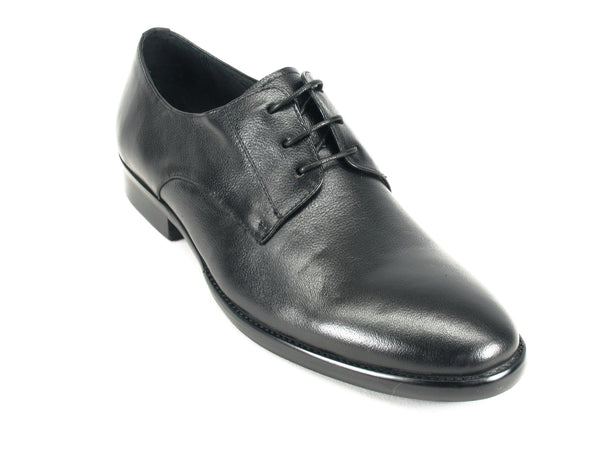 KS735-01 Soft Leather Lace-up Oxford-Black