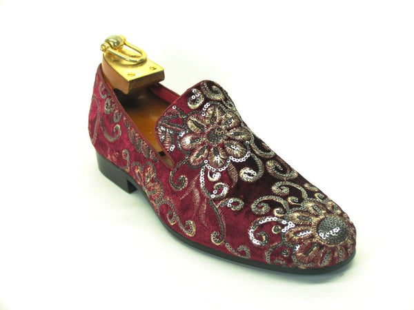 KS805-07SV Carrucci Hand Embroidered Loafer