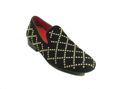 KS805-10SS Carrucci Studs Loafer-Black