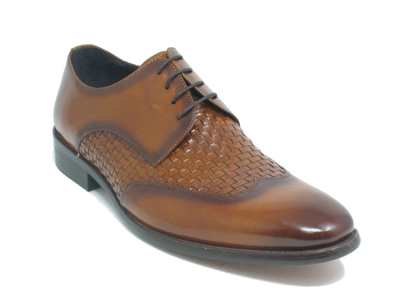 KS886-14 Hand Braided Leather Woven Oxford