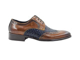Medallion Wing-tip Plain-toe Basket Weave four eyelets Oxford - KS886-18T