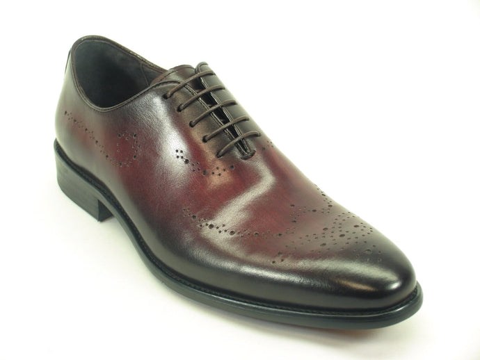 KS886-731 Whole Cut Oxford with Medallions-Burgundy