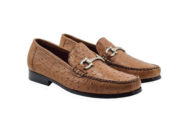 Genuine Ostrich Slip-on Loafer - Struzzo