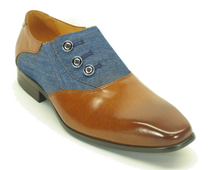 KS524-12 Button-up Loafer-Cognac