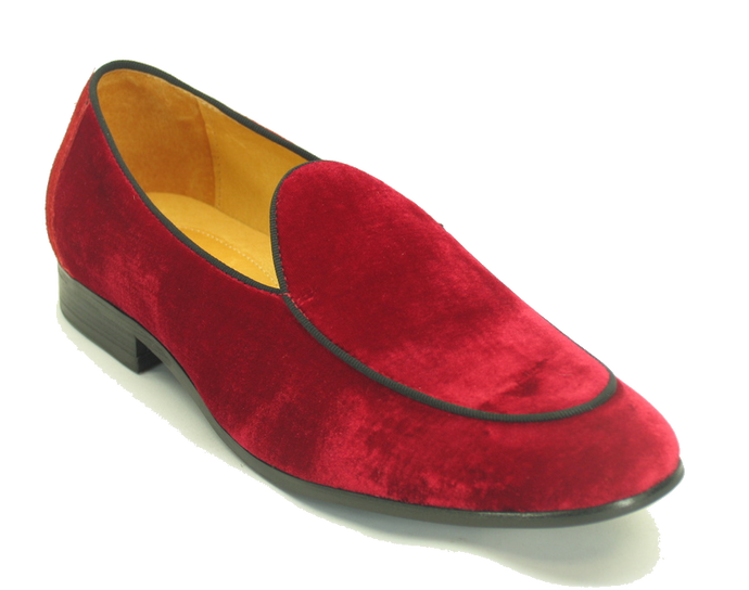 KS525-103V Velvet Prom Loafer-Red