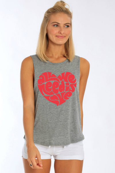 All We Need Is Love Muscle Tee