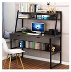 COMPUTER DESK COMBINATION WORKSTATION BLACK