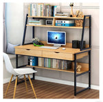 COMPUTER DESK COMBINATION WORKSTATION OAK
