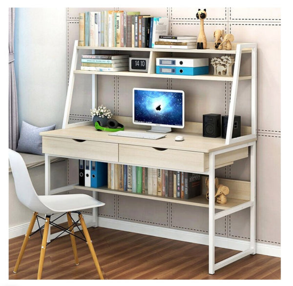 COMPUTER DESK COMBINATION WORKSTATION  WHITE