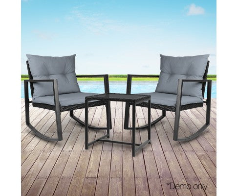 OUTDOORS ROCKING CHAIR SET