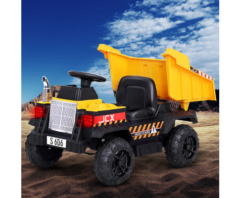KIDS ELECTRIC RIDE ON DUMP TRUCK