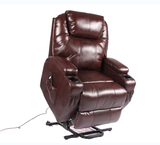 RECLINER LIFT MASSAGE CHAIRS ( Brown Bonded Leather)