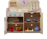 KITCHEN PLAY SET natural/pink