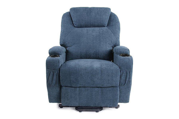 RECLINER LIFT MASSAGE CHAIRS  (Blue Fabric)