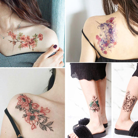 Natural Herbal Temporary Tattoo Kit