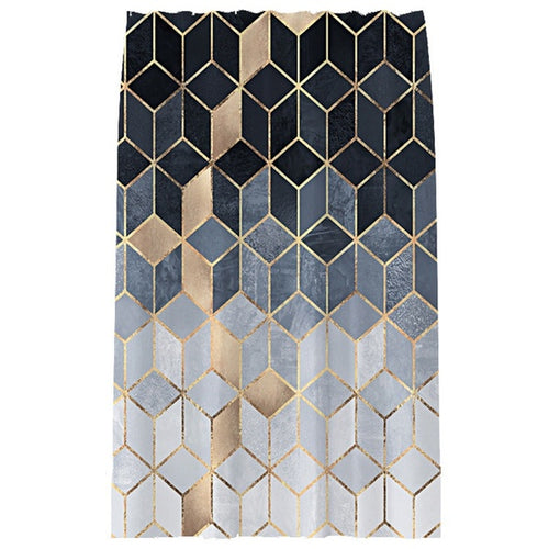 YOMDID Marble Pattern Bath curtain Waterproof Shower Curtains Geometric Bath Screen Printed Curtain for Bathroom Gift Navidad