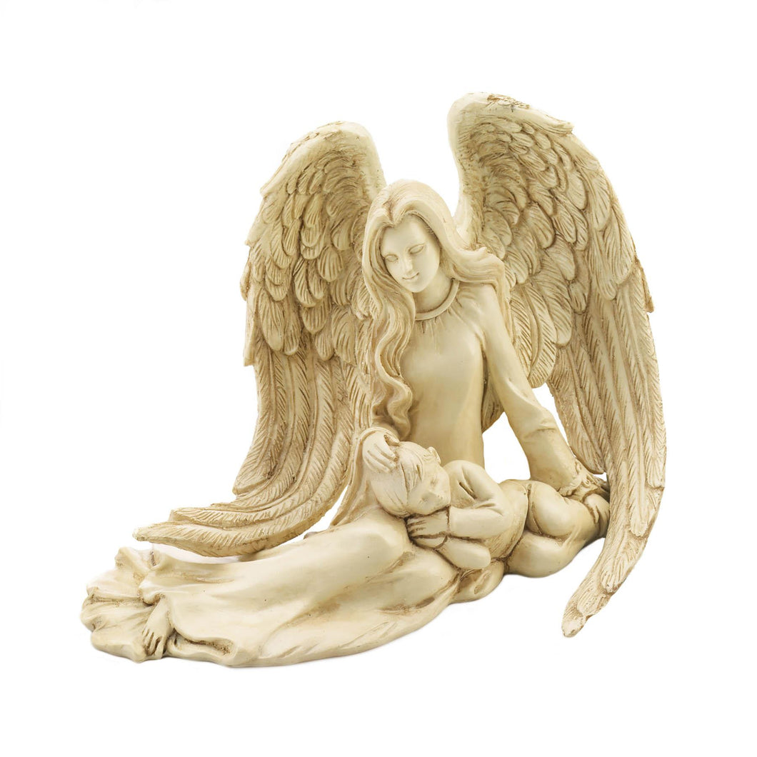 ANGEL AND CHILD FIGURINE