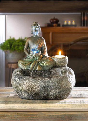 10017965 BUDDHA TABLETOP FOUNTAIN