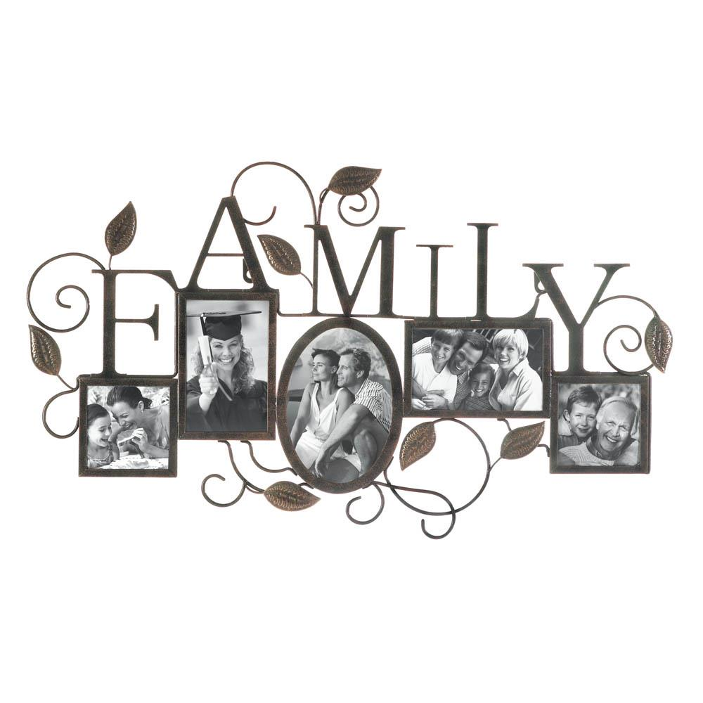 FAMILY 5-PHOTO WALL FRAME
