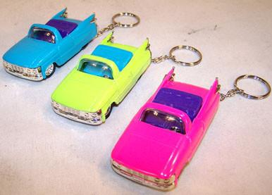 NEON DIECAST CLASSIC CAR KEY CHAINS