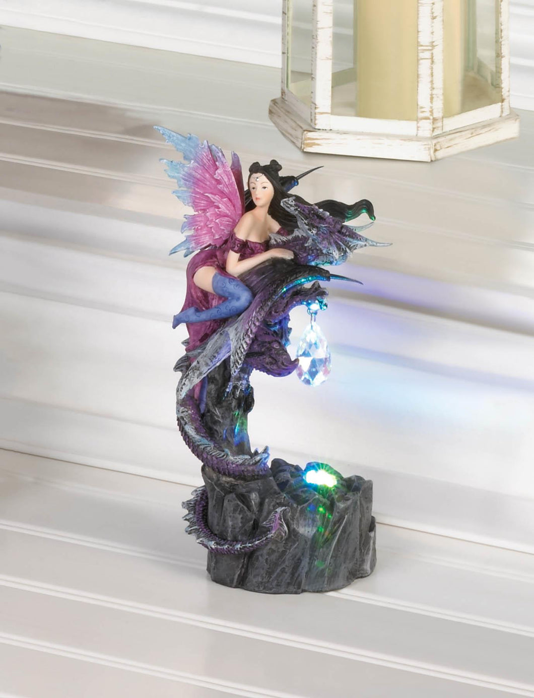 LIGHT UP FAIRY AND DRAGON FIGURINE