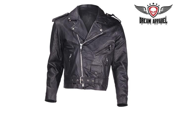 Mens Jacket Naked Cowhide Leather