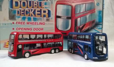 DOUBLE DECKER DIE CAST METAL BUS