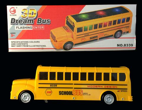 BATTERY OPERATED BUMP AND GO YELLOW SCHOOL BUS