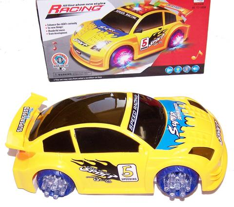 BATTERY OPERATED BUMP AND GO RACE CAR