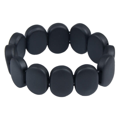 natural black stone bracelet - very-popular-jewelry.com