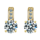 rhinestone silver color crystal earrings