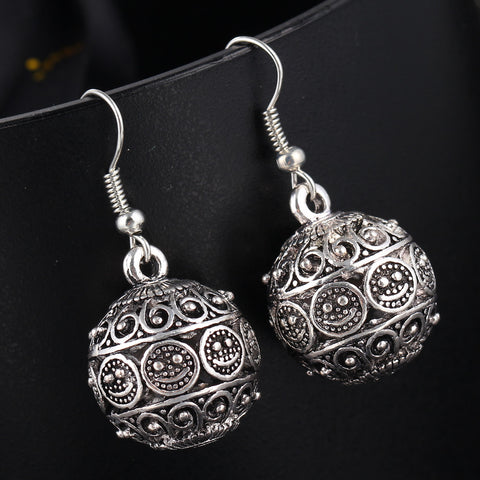 bohemia long pendant ball drop earrings for women