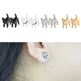 cute cat stud earrings for women
