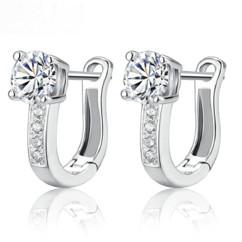 925 sterling silver white zircon earrings for women