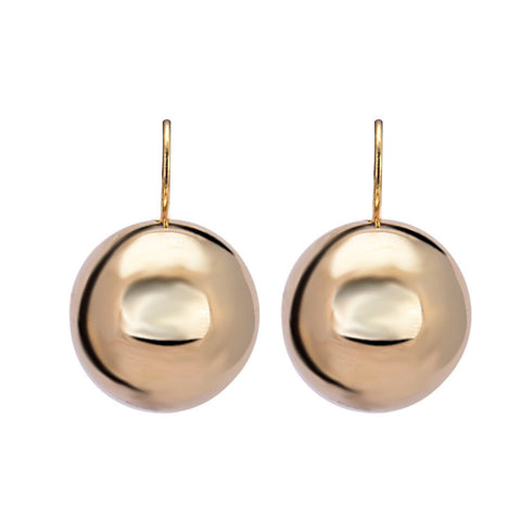 silver plated big round ball pendant earrings - very-popular-jewelry.com