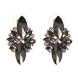 vintage crystal stud earrings for women - very-popular-jewelry.com