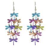 colorful dragonfly bohemian dangle long earrings