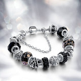 black crystal chain bracelet for women - very-popular-jewelry.com