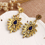 bohemia national wind rhinestone dangle earrings - very-popular-jewelry.com