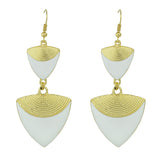 enamel triangle long drop geometric earrings - very-popular-jewelry.com