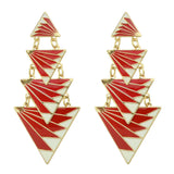 long triangle geometric earrings