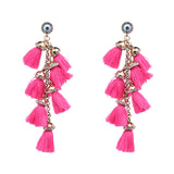 statement fringe drops earrings for women