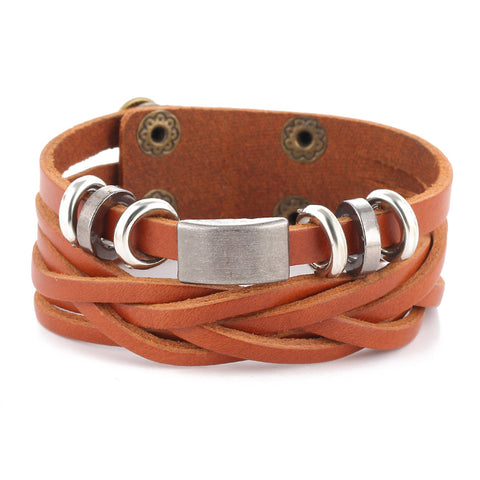 leather wrap bracelet for men - very-popular-jewelry.com