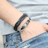 leather wrap bracelet for men