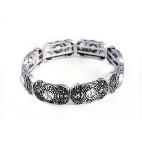 vintage charm stretch bracelet & bangle