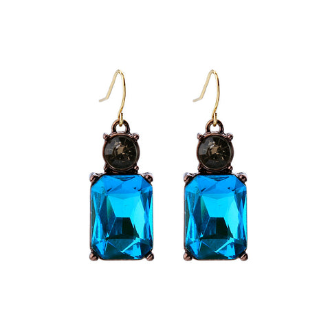 elegant glass square earrings for women - very-popular-jewelry.com