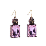 elegant glass square earrings for women
