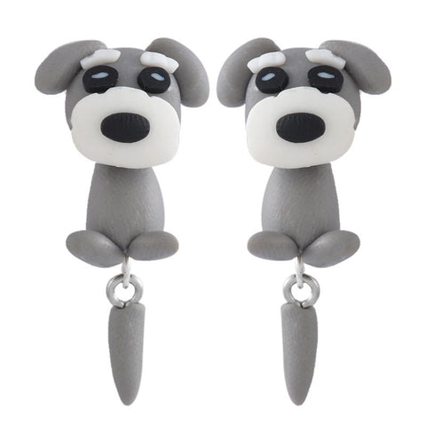 handmade cute dog stud earrings - very-popular-jewelry.com